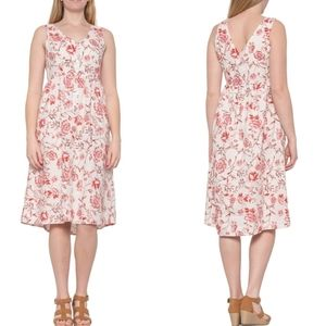 Cynthia Rowley Linen Floral Knee Length Dress
